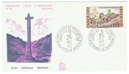 Andorre // FDC // 1976 // Croix Gothique Meritxell - FDC