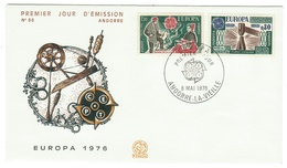 Andorre // FDC // 1976 // Europa 1976 - FDC