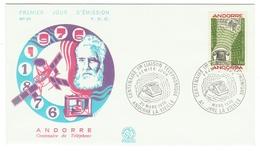 Andorre // FDC // 1976 // 100 Ans Du Téléphone - FDC