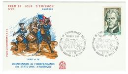 Andorre // FDC // 1976 // Bicentenaire De L'indépendance Des Etats-Unis D'Amérique - FDC