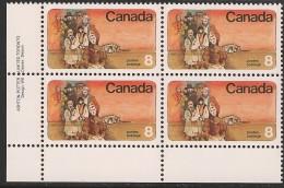CANADA 1974 SCOTT 643**  PLATE BLOCK LR - Blokken & Velletjes