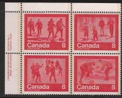 CANADA 1974 SCOTT 644-47**  PLATE BLOCK UL - Blocks & Kleinbögen