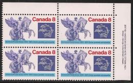 CANADA 1974 SCOTT 648**  PLATE BLOCK UR - Blokken & Velletjes
