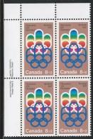 CANADA 1974 SCOTT B1**  PLATE BLOCK UL - Blocks & Kleinbögen