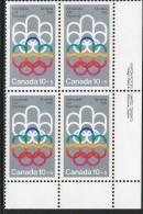 CANADA 1974 SCOTT B2**  PLATE BLOCK LR - Blocks & Kleinbögen