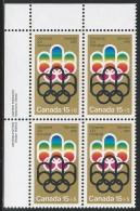 CANADA 1974 SCOTT B3**  PLATE BLOCK UL - Blocks & Sheetlets