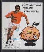 CAPE VERDE : Block 4 -  Football World Cup 1982  SPAIN – (o) - Cap Vert