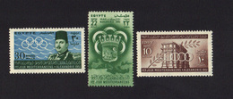 Egypte Egypt Issued To Publicize The First Mediterranean Games, Alexandria  1951 MLH - Ägypten