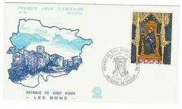 Andorre // FDC // 1977 // Retable De Sant Roma - FDC