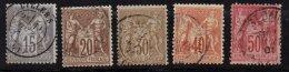 FRANCE - Sage Au Type I - Bon Lot D'oblitérés - 1876-1878 Sage (Type I)