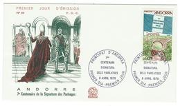 Andorre // FDC // 1978 // 7e Centenaire De La Signature Des Paréages - FDC