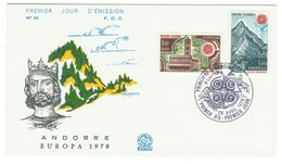 Andorre // FDC // 1978 // Europa 1978 - FDC