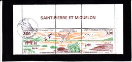"""SPM 1987 N° 484 & 485 En Triptyque Neuf ** Avec Cachet """"Philatélie PERIGUEUX"""" - Voir DESCRIPTIf & Verso - - St.Pierre & Miquelon"""