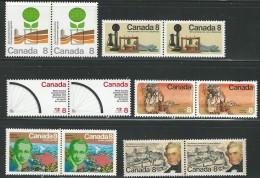 CANADA 1974 540-543**,554-555** CAT VAL US $2.70 - 1952-.... Elizabeth II