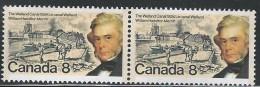 CANADA 1974  SCOTT 655** PAIR CAT VAL US $0.45 - 1952-.... Elizabeth II