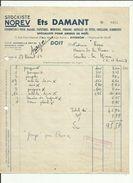 Facture De Ets DAMANT Stokiste NOREV  Fourniture Bazar-Papetiers A AVIGNON Adres A Mme Rene Librairie A Couches En 1963 - France