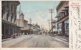 Honolulu Hawaii King & Front Street Scene, Street Car Auto, C1900s Vintage Postcard - Honolulu