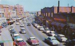Lewiston Idaho, Main Street Scene Business District, Autos C1950s Vintage Postcard - Lewiston