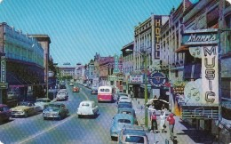 Lewiston Idaho, Main Street Scene Business District, Autos Music Store C1950s Vintage Postcard - Lewiston