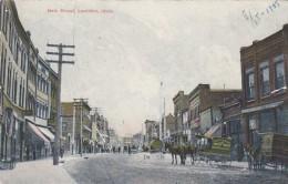 Lewiston Idaho, Main Street Scene Business District, Grocery Bakery Delivery Wagon, C1900s Vintage Postcard - Lewiston