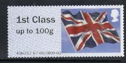 GB 2013 QE2 1st Post & Go Union Flag No Gum Unused SG FS 39 ( C645 ) - Gran Bretagna