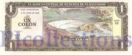EL SALVADOR 1 COLON 1982 PICK 133A UNC - Salvador