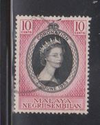 NEGRI SEMBILAN Scott # 63 Used - QEII Coronation - Negri Sembilan