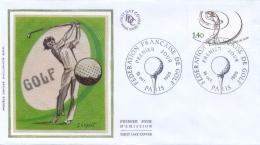 France 1980 FDC French Golf Federation - Golf