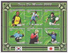 0417 Mozambique 2001 Voetbal Soccer Robbie Keane Michael Owen Oliver Kahn S/S MNH - Wereldkampioenschap