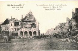 CPA N°7880 - LOT DE 3 CARTES DE PERONNE - HOTEL DE VILLE - MILITARIA 14-18 - Peronne