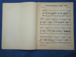 40 60 PARTITION GF PIANO CHANT FILM LE DÉSORDRE ET LA NUIT GABIN DARRIEUX CONTET YATOVE SIMPLEMENT KISS ME 1957 - Musik & Instrumente