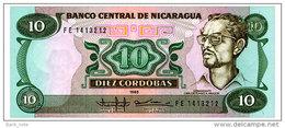 NICARAGUA 10 CORDOBAS 1985 Pick 151 Unc - Nicaragua