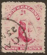 NZ 1901 1d Universal Pmk Cave SG 349 U #AAT166 - 1855-1907 Crown Colony