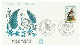 Andorre // FDC // 1979 //  La Perdrix Blanche - FDC