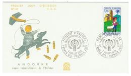 Andorre // FDC // 1979 //  Année Internationale De L'enfance - FDC