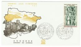Andorre // FDC // 1979 //  Monument Des Co-Princes - FDC