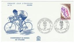 Andorre // FDC // 1980 //  Championat Du Monde De Cyclisme - FDC