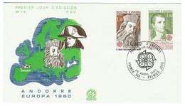 Andorre // FDC // 1980 //  Europa 1980 - FDC