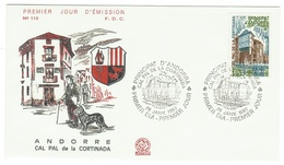 Andorre // FDC // 1980 //  Cal Pal De La Cortnada - FDC