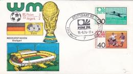 Germany Cover 1974 FIFA World Cup Football - Stuttgart Polan-Argentina 3:2 (DD5-10) - Coppa Del Mondo