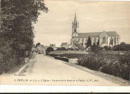 49 - VERN  - L'église Vue Prise De La Route De La Pouèze  184 - France