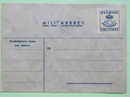 Sweden Unused Military Stationery Cover - Posthorn - Little Bit Damaged - Suède