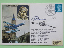 Great Britain 1976 Signed Military Special Cover From Marham To U.K. - Plane - Sir Alan Cobham - Machin - 1952-.... (Elizabeth II)