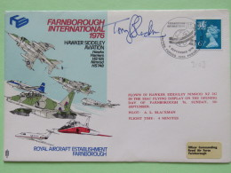 Great Britain 1976 Signed Military Special Cover From Farnborough To U.K. - Plane - Machin - 1952-.... (Elizabeth II)