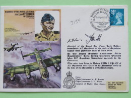 Great Britain 1976 Signed Military Special Cover From Northolt To U.K. - Plane - Lord Tedder / Machin / Lion - 1952-.... (Elizabeth II)