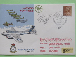 Great Britain 1977 Signed Military Special Cover From Biggin Hill To U.K. - Plane - Air Fair - Machin - Flying Fortress - 1952-.... (Elizabeth II)