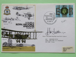 Great Britain 1977 Signed Military Special Cover From Andover To U.K. - Plane - Eagle - Silver Jubilee - 1952-.... (Elizabeth II)