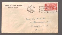 7326- Bermuda , British Colonies, Cover To USA - Great Britain (former Colonies & Protectorates)