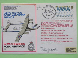 Great Britain 1978 Signed Military Special Cover From Brize Norton To U.K. - Plane - Birds Geese Christmas - 1952-.... (Elizabeth II)