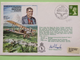 Great Britain 1978 Signed Military Special Cover From Cranwel To U.K. - Plane - Viscount Trenchard - Machin - Lion - 1952-.... (Elizabeth II)